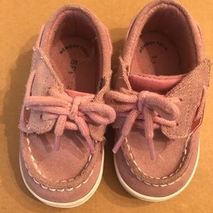 Pink Sperry boat shoe size 4 toddler